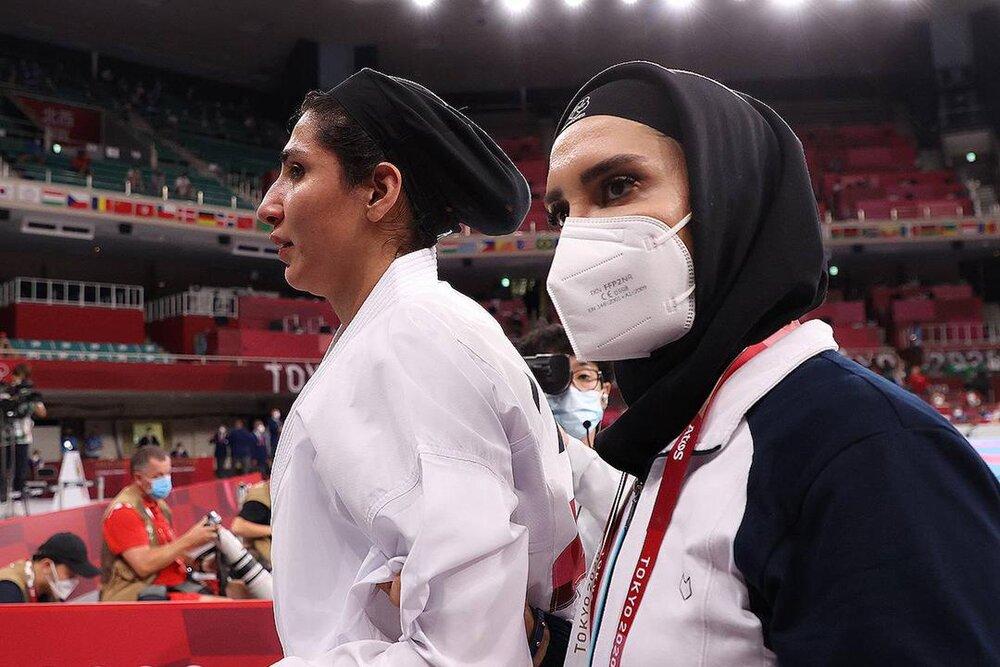 به گریه افتادن حمیده عباسعلی پس از شکست در المپیک