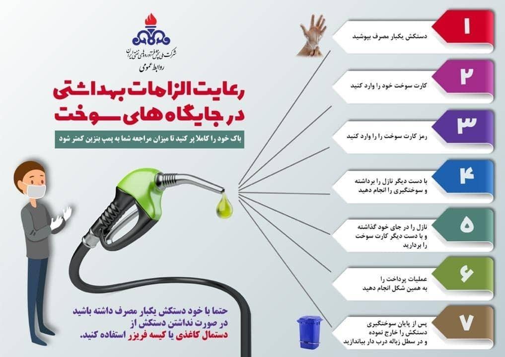 ضدعفونی کردن پمپ بنزین در برابر ویروس کرونا