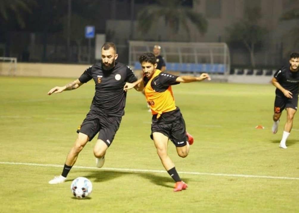 تمرین روزبه چشمی با تیم ام صلال قطر