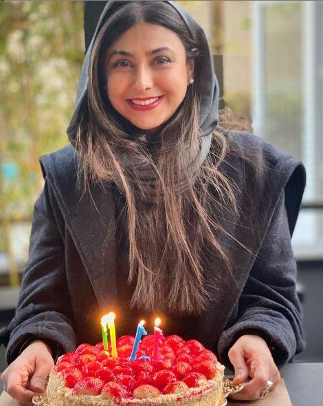 جشن تولد 42 سالگی آزاده صمدی