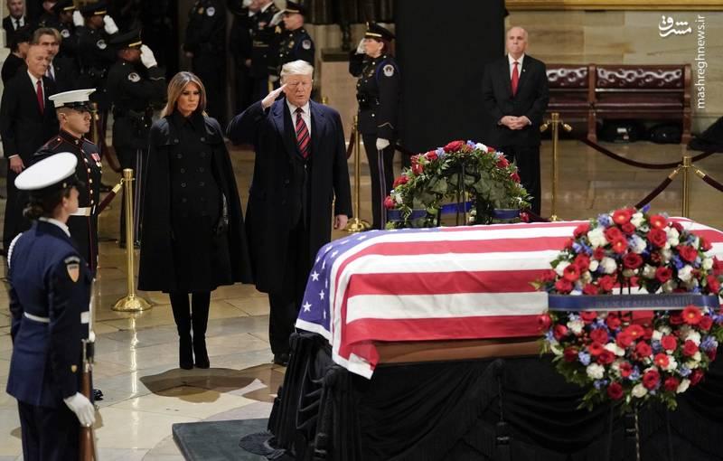 جنازه جورج بوش پدر