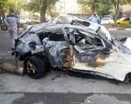 عکس | تصادف شدید ب ام و در بزرگراه مدرس و فوت 2 سرنشین آن