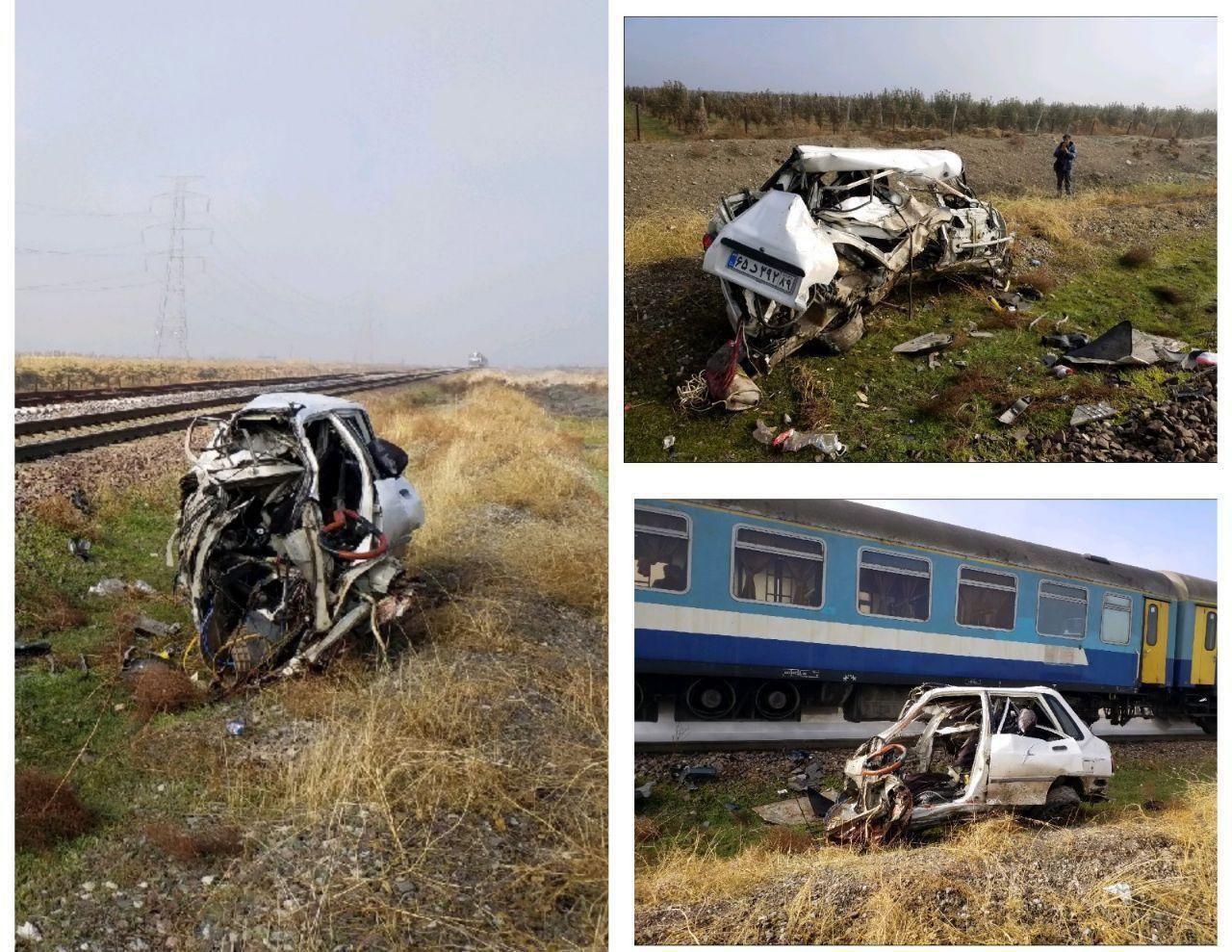 برخورد پراید با قطار تهران -قزوین/ 3 کشته