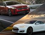 مسابقه درگ بین کیا Stinger و تسلا Model S + فیلم