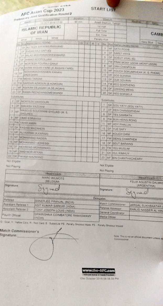لیست کاپیتانهای تیم ملی