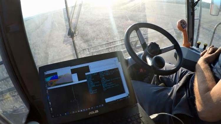 Autonomous combine / کمباین خودران