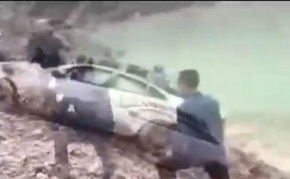 سقوط مرگبار مرسدس بنز در سد کرج (ویدئو)