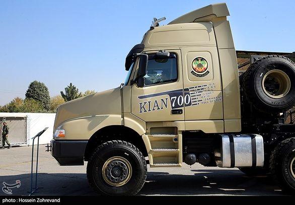 رونمایی از خودرو تانک بر کیان 700 (عکس)
