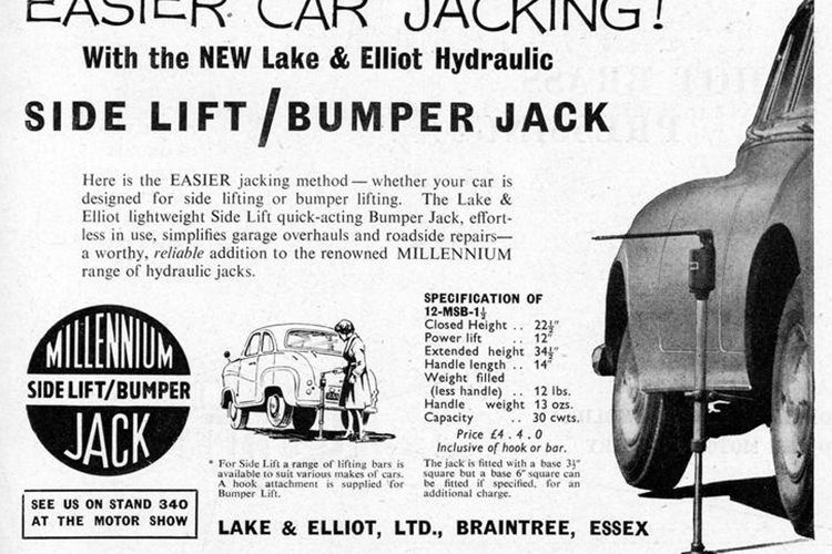 Lake & Elliott hydraulic jack