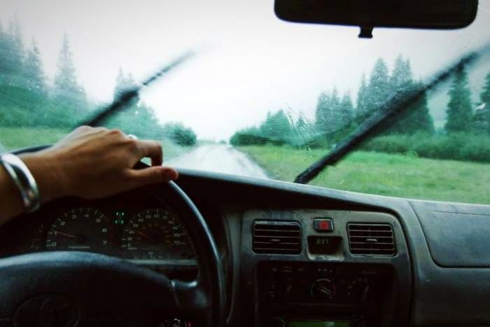 رانندگی در باد