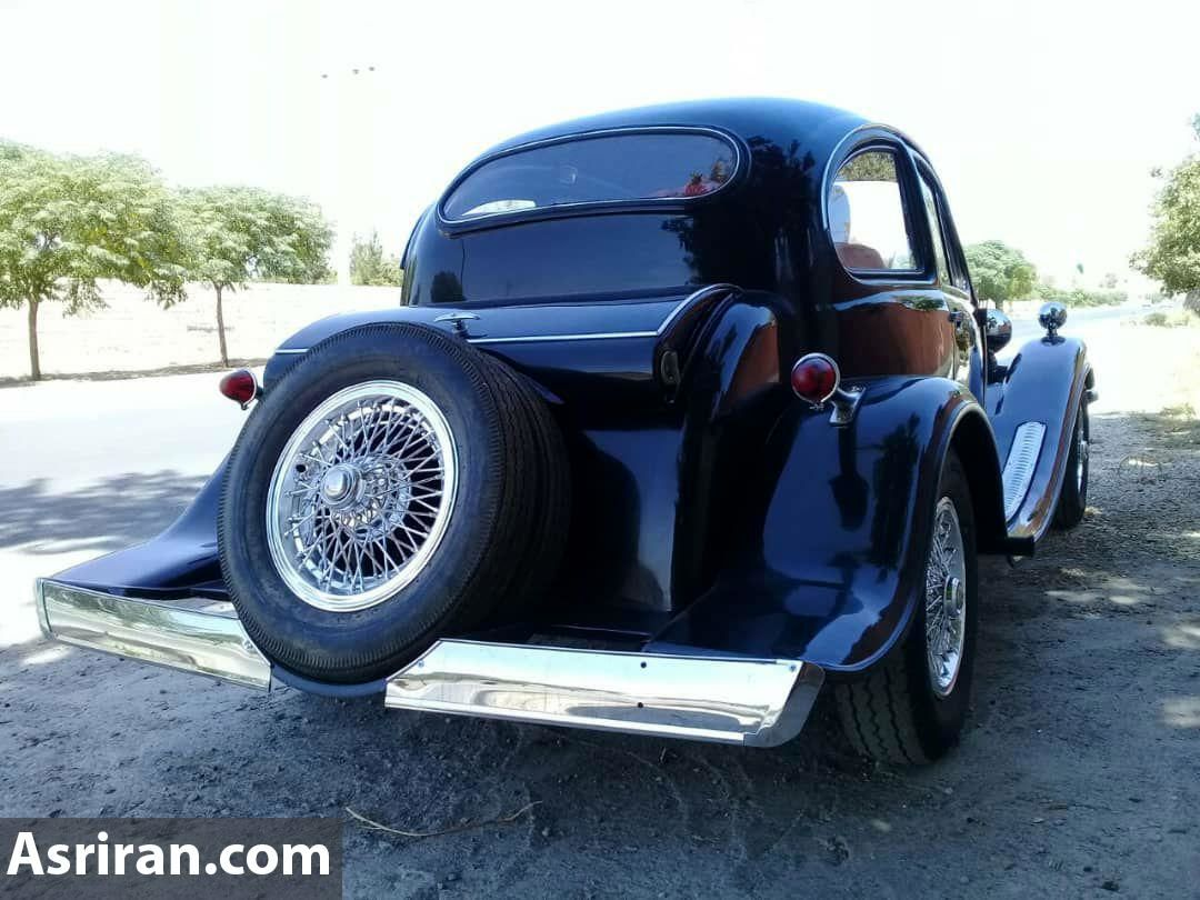 ساخت خودروی کلاسیک بوگاتی توسط 2 هنر مند اصفهانی (+عکس)