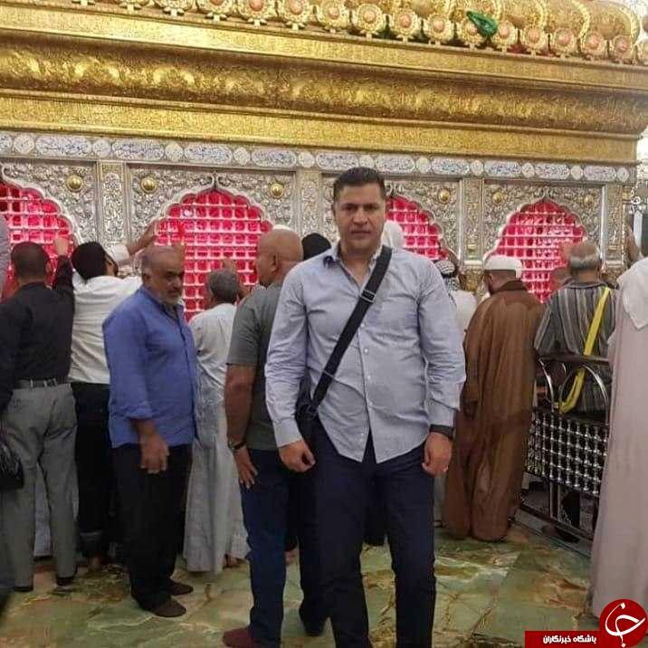 تشرف آقای گل جهان به نجف اشرف +عکس