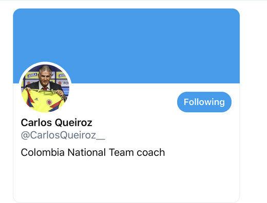 کارلوس کی روش از اینستاگرام به توییتر کوچ کرد