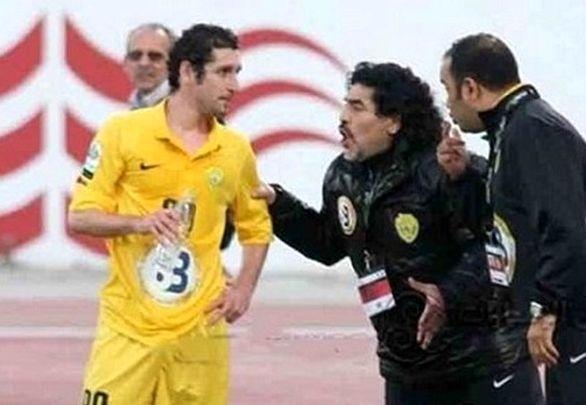 واکنش هیجانی مارادونا به گلزنی لژیونر ایرانی تیمش + فیلم