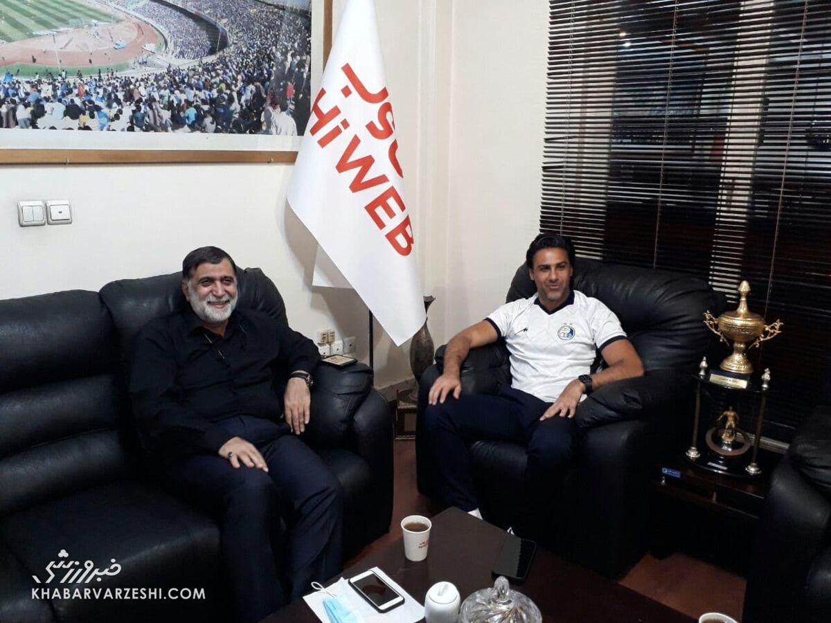 عکس| چهره خندان مجیدی در جلسه با آجرلو/ مدیر عامل جدید استقلال انتظاراتش را گفت
