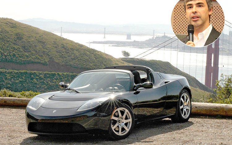 Larry Page - Tesla Roadster