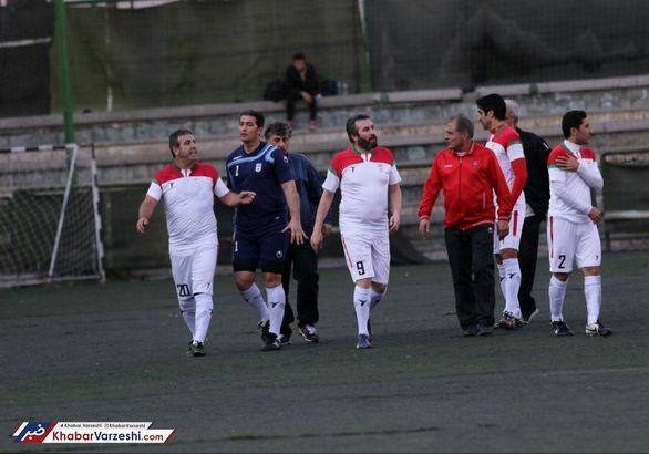 اولین تصاویر از درگیری دو پیشکسوت پرسپولیس در بازی دیروز