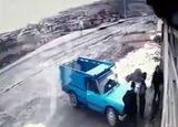 نجات معجره آسای راننده تندر 90 از مرگ حتمی