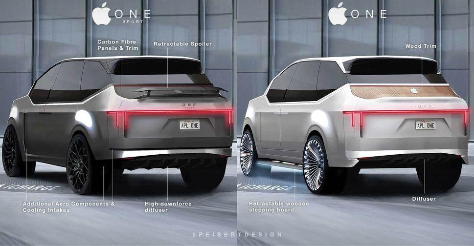 آپشنهای اولین خودروی اپل لو رفت!