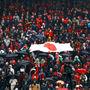 پاسخ دندان شکن پرسپولیسی ها به ماجرای پرچم ژاپن ، عکس
