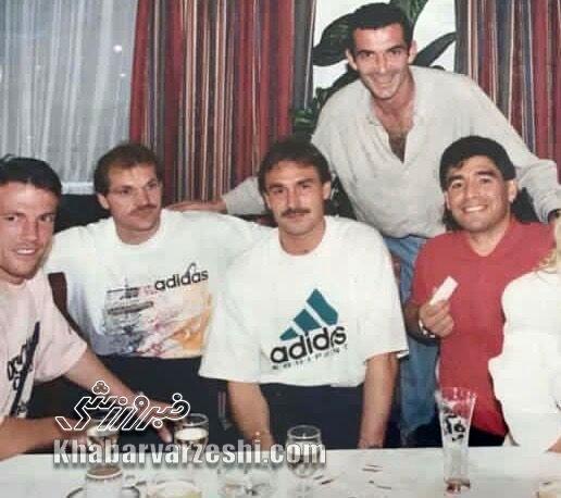 مهمانی سویا و بایرن با حضور مارادونا و ماتئوس