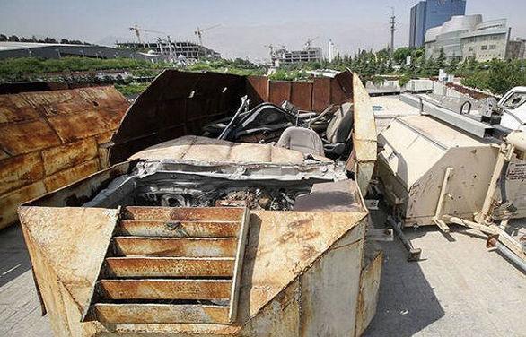 نمایش خودروهای انتحاری داعش در تهران (عکس)