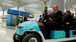 رانندگی رئیس جمهوری ترکیه با خودروی خاص + عکس