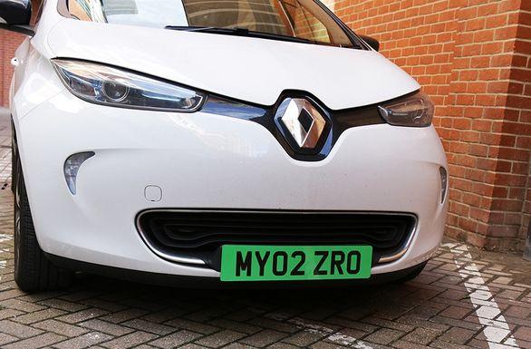 طرح تشویقی پلاک سبز برای خودروهای برقی در انگلستان